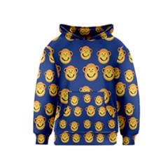 Monkeys Seamless Pattern Kids  Pullover Hoodie