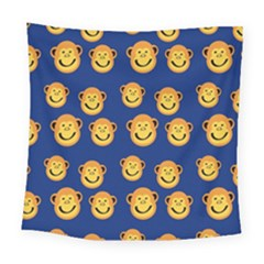 Monkeys Seamless Pattern Square Tapestry (large)