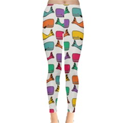 Small Rainbow Whales Leggings