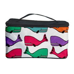 Small Rainbow Whales Cosmetic Storage Case