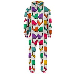 Small Rainbow Whales Hooded Jumpsuit (Men)