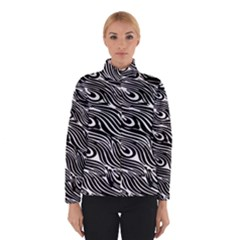 Digitally Created Peacock Feather Pattern In Black And White Winterwear