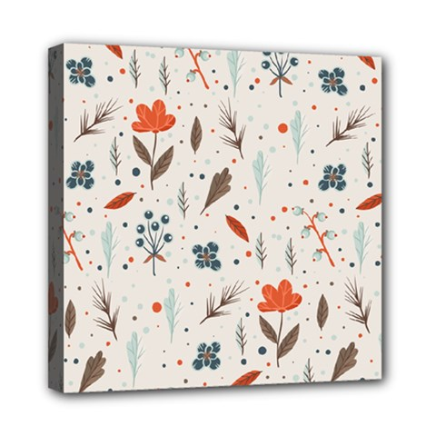 Seamless Floral Patterns  Mini Canvas 8  x 8