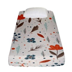 Seamless Floral Patterns  Fitted Sheet (Single Size)