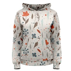 Seamless Floral Patterns  Women s Pullover Hoodie