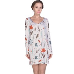 Seamless Floral Patterns  Long Sleeve Nightdress