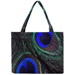 Peacock Feather Mini Tote Bag