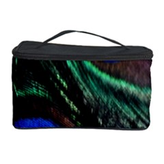 Peacock Feather Cosmetic Storage Case