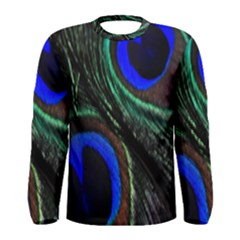 Peacock Feather Men s Long Sleeve Tee