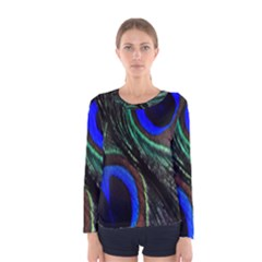 Peacock Feather Women s Long Sleeve Tee