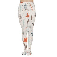 Seamless Floral Patterns  Women s Tights
