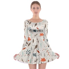 Seamless Floral Patterns  Long Sleeve Skater Dress