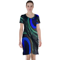 Peacock Feather Short Sleeve Nightdress