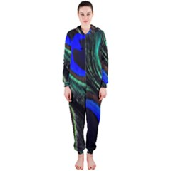 Peacock Feather Hooded Jumpsuit (Ladies)