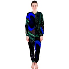Peacock Feather Onepiece Jumpsuit (ladies)