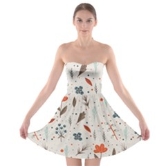 Seamless Floral Patterns  Strapless Bra Top Dress