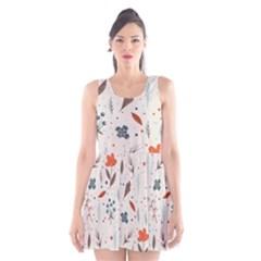 Seamless Floral Patterns  Scoop Neck Skater Dress