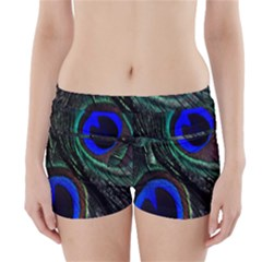 Peacock Feather Boyleg Bikini Wrap Bottoms