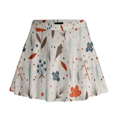 Seamless Floral Patterns  Mini Flare Skirt