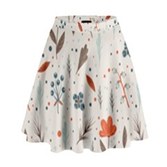 Seamless Floral Patterns  High Waist Skirt