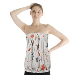 Seamless Floral Patterns  Strapless Top