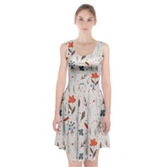 Seamless Floral Patterns  Racerback Midi Dress