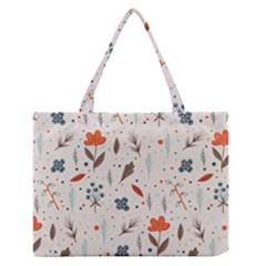 Seamless Floral Patterns  Medium Zipper Tote Bag