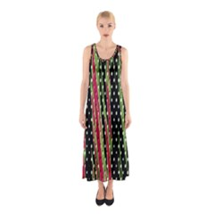 Alien Animal Skin Pattern Sleeveless Maxi Dress