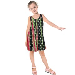 Alien Animal Skin Pattern Kids  Sleeveless Dress