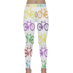 Rainbow Colors Bright Colorful Bicycles Wallpaper Background Classic Yoga Leggings