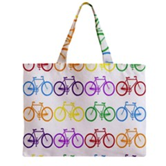 Rainbow Colors Bright Colorful Bicycles Wallpaper Background Zipper Mini Tote Bag