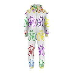 Rainbow Colors Bright Colorful Bicycles Wallpaper Background Hooded Jumpsuit (Kids)
