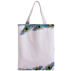 Beautiful Frame Made Up Of Blue Peacock Feathers Classic Tote Bag