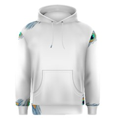 Beautiful Frame Made Up Of Blue Peacock Feathers Men s Pullover Hoodie