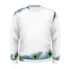Beautiful Frame Made Up Of Blue Peacock Feathers Men s Sweatshirt