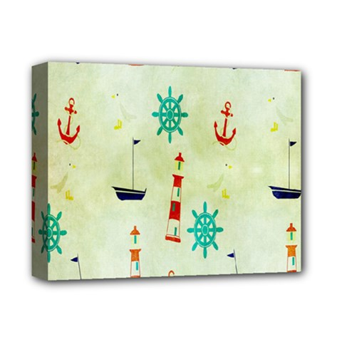 Vintage Seamless Nautical Wallpaper Pattern Deluxe Canvas 14  x 11