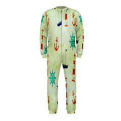 Vintage Seamless Nautical Wallpaper Pattern OnePiece Jumpsuit (Kids)