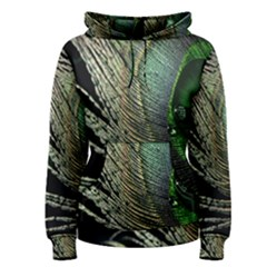 Feather Peacock Drops Green Women s Pullover Hoodie