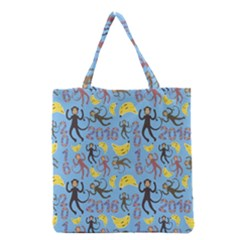 Cute Monkeys Seamless Pattern Grocery Tote Bag