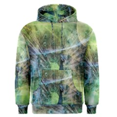 Digitally Painted Abstract Style Watercolour Painting Of A Peacock Men s Pullover Hoodie