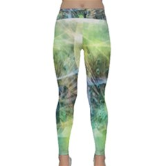 Digitally Painted Abstract Style Watercolour Painting Of A Peacock Classic Yoga Leggings