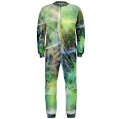 Digitally Painted Abstract Style Watercolour Painting Of A Peacock Onepiece Jumpsuit (men)