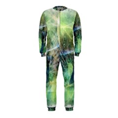 Digitally Painted Abstract Style Watercolour Painting Of A Peacock OnePiece Jumpsuit (Kids)