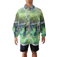 Digitally Painted Abstract Style Watercolour Painting Of A Peacock Wind Breaker (kids)