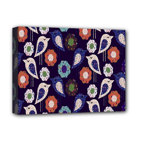 Cute Birds Pattern Deluxe Canvas 16  x 12
