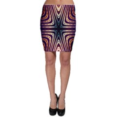 Colorful Seamless Vibrant Pattern Bodycon Skirt