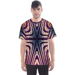 Colorful Seamless Vibrant Pattern Men s Sport Mesh Tee