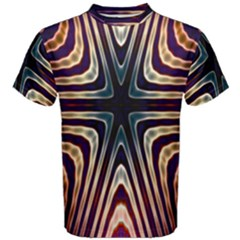 Colorful Seamless Vibrant Pattern Men s Cotton Tee