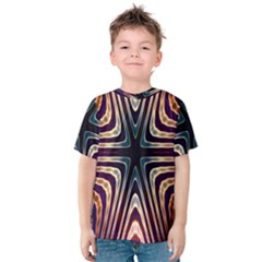 Colorful Seamless Vibrant Pattern Kids  Cotton Tee