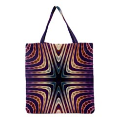 Colorful Seamless Vibrant Pattern Grocery Tote Bag